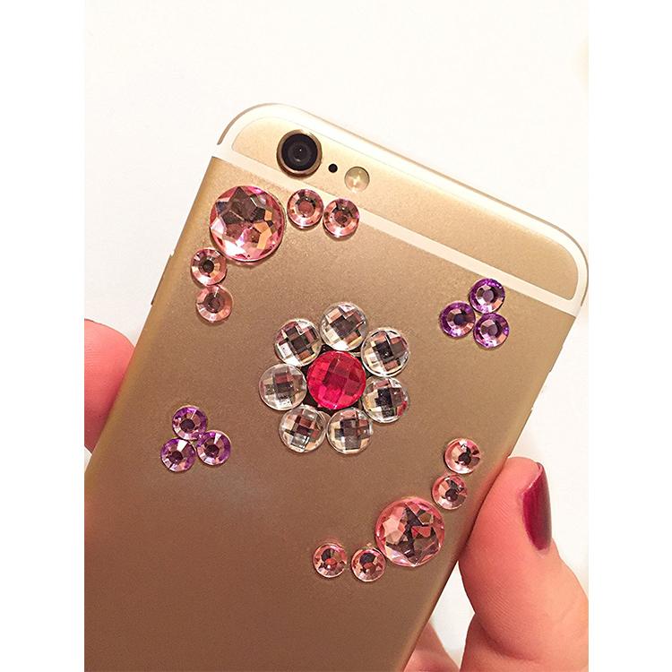 Cristal Rhinestone Etiquetas para DIY Decoração do natal Presente, telefone Decoração Enfeite, Tablet Decoração Embelezamento