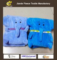 Throw Fleece Plush Luxury BLANKET For All Sizes Coral Fleece Baby Blanket with elephant
