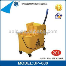 Hot Selling 20L/26L/36L industrial cleaning products mop wringer bucket