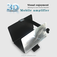New 3X Portable Mobile Phone Screen HD Magnifier Lens&Holder for TV Watching