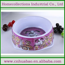 1700ml big size melamine Dog Water and Food Bowl Holds with pretty dog printed