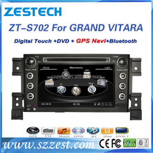 touch screen car radio gps for Suzuki Grand Vitara support DVD+GPS+BT+RDS+CANBUS+English Turkish French Arabic Portuguese etc