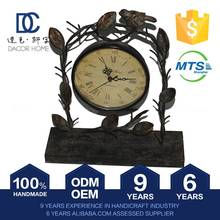 Exceptional Quality Trendy New Pattern Custom Tag Vintage Brass Gift Table Clock
