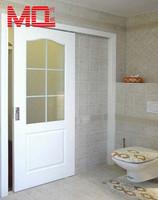 pvc/upvc toilet door single panel sliding flush door design factory