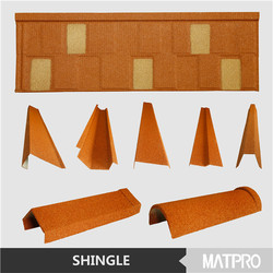 MATPRO SHINGLE 2015 new chic Chinese roof design color stone coated steel roof shingle thermal resistance