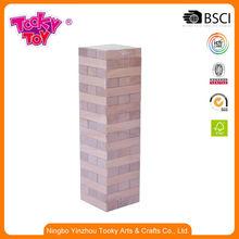 Niños aprendizaje de colores de pared de madera cubos