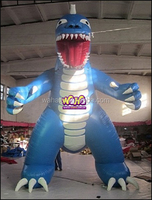 5M custom cheap giant advertising cartoon inflatable dinosaur