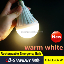 2 years warranty cool white rechargeable led emergency bulb touch light in cost price