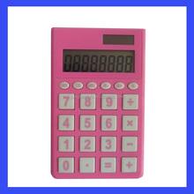 Rubber coat cover digital solar calculator, thin pocket calculator