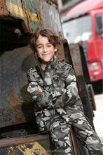 high quality outdoor camouflage kids denim jacket