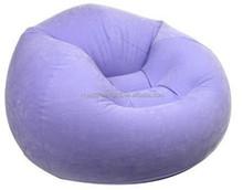 New design fashionable comfortable durable purple flocking inflatable sofa