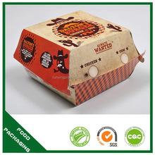 Popular latest burger box paper packaging