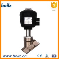 Casting pneumatic butt welded two way angle seat Z type valve