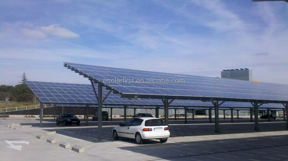 pv solar carport solar aluminium rahmen halterung kilowatt fabrik preis sonnenenergiesystem. Black Bedroom Furniture Sets. Home Design Ideas