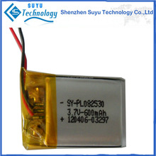 High capacity li-polymer 3.7V 600mAh rechargeable batteries with Different Dimension For Medical Equipment