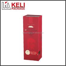 Custom classic cardboard wine packaging box