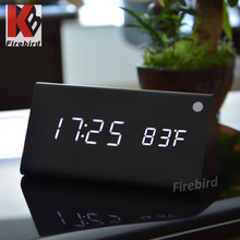 Wholesale Sound control triangle led clock creative electronic gift items for men