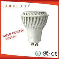 Thermal plastic new 5w 7w 550lm cob gu10 spotlight AC/DC12V mr16 led 7w gu5.3