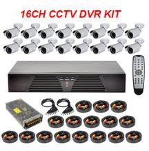 16 Outdoor Cams & DVR Kit CCD 1200TV HD CCTV Camera Sytstem
