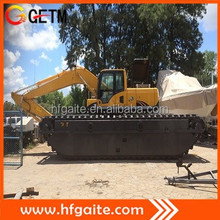 Construction machine designed for swamp and all kind of soft terrain work dredging excavator