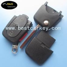 Best price 2+1 buttons remote key shell for vw key case vw golf remote key with 1616 small battery