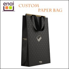 white card paper with pritning making paper gift bag for brand use in company
