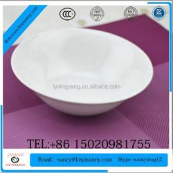 light color unique shape footed ceramic two tone soup bowl