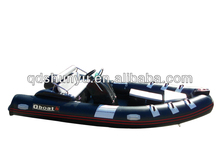 CE certificate 4.7m fiberglass double layers v-deep inflatable fishing boat for sale