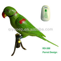 Hand Painted Voice Recording Parrot Door Chime 6 Second Message Recorded Factory Direct Supply