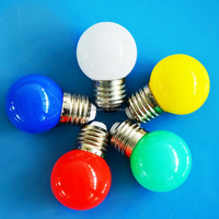 CE energy saving Christmas decoration e27 interior outdoor colorful lighting 0.5W led bulb made in China