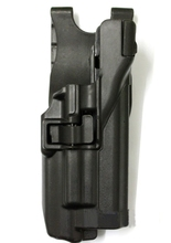 Tactical Plastic Matte Finish CQC GLOCK Belt Holster With Light
