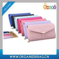 Encai Fashion Bowknot Decoration Lady's Leather Flap Wallets Hot Design Women Fancy Purses With Cards Slots Wholesale