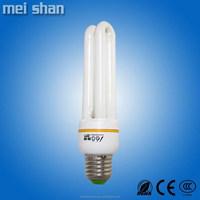 11Watt E27 2U energy saving light tube 9mm diameter cfl bulb