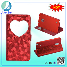 Newest pu leather flip cover create phone case for samsung note 4