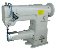 automatic oil supply one needle unison feed cylinder sewing machine for handbags,toys,sport articles