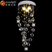 Asfour moderna lámpara de araña de cristal, las gotas de lluvia de cristal araña om88457-300 prismas
