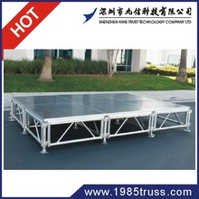 Hot!Aluminum modular concert stage ,mobile stage , non-slip portable stage