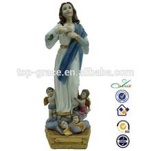 caliente venta de christian arte de la resina figuras
