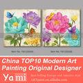 Aplique moderno arte lienzo Flor pintura acrílica