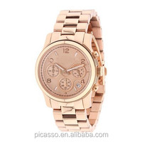 Wholesale hot selling roes gold brand women mk watches MK5128