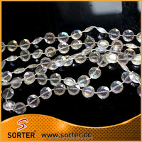 decorative plastic diamond cut shapd bead cchain for events and wedding decoration