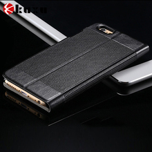 Elegant design folio case nature leather waterproof shockproof durable full protect iPhone6 cover case