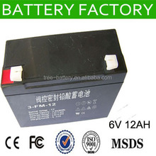 free maintenance rechargeable lead acid battery price 6V12AH battery for lcd screen