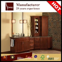 SKBV0030 China factory made luxury bathroom design, bathroom furniture with solid wood bathroom cabinet