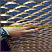 Expanded Metal Mesh curtain wall mesh /Aluminium Expanded Metal mesh sheet / Anodic Oxidation aluminum expanded metal mesh