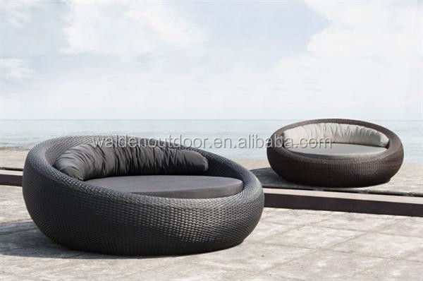 new bali rotin ext rieur meubles de jardin piscine chaise longue lit rond outils de jardin id de. Black Bedroom Furniture Sets. Home Design Ideas