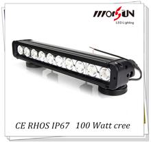 10W/Diode Single stack IP67 waterproof led light bar,100w led bar 4x4