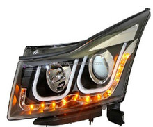 fashion 2014 hot sale led light bicycle head lamp for Chevrolet cruze headlight plug and play 12v