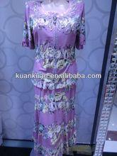 elegante de verano para damas flora impreso vestido de traje