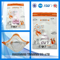 Custom printed FDA certification pouch with zipper for pigeon food